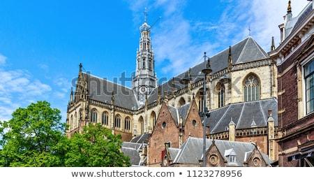 église saint Pays-Bas bâtiment ville bleu Photo stock © borisb17