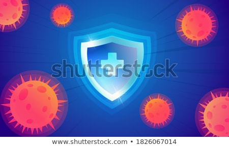 Orvosi védelem pajzs tömés koronavírus belépés Stock fotó © SArts