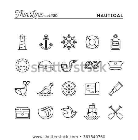 Map Treasure Icon Vector Outline Illustration Stock photo © pikepicture