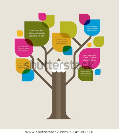 back to school   tree with education icons stock photo © marish