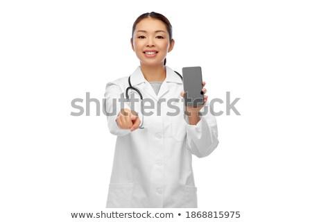 Сток-фото: стетоскоп · телефон · медицинской · помочь · изолированный