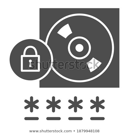 Key on a CD isolated on white concepts of data security stock photo © johnkwan