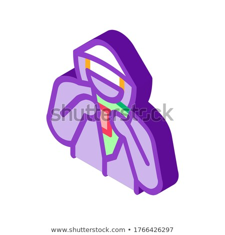 Shoplifter with Goods isometric icon vector illustration Stock photo © pikepicture