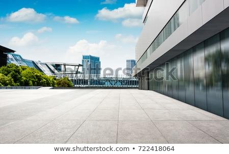 Modern bina soyut Bangkok Tayland Bina duvar Stok fotoğraf © smithore
