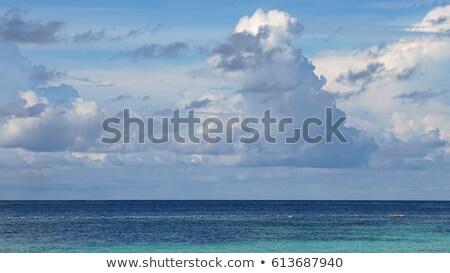 Bulutlar deniz gökyüzü su bahar doğa Stok fotoğraf © Borissos