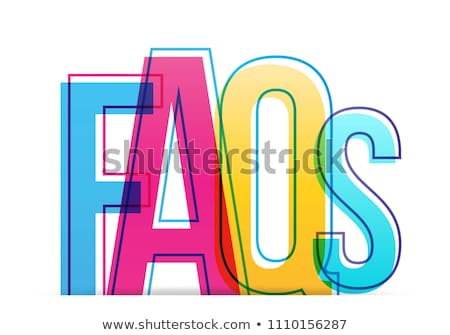 FAQ in colorful Letters Stock photo © mybaitshop