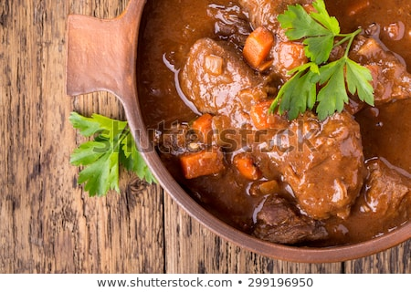 Stock photo: Cooking a stew in a casserole