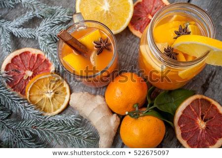 szeretet · friss · mandarin · dzsúz · kép · rózsaszín - stock fotó © veralub