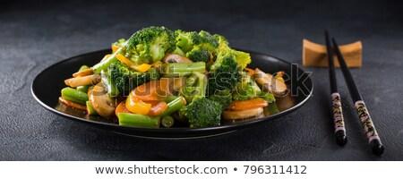 Chinese plantaardige zwarte plaat groenten Stockfoto © TheProphet