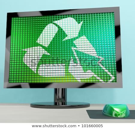 リサイクル アイコン コンピュータの画面 リサイクル 環境にやさしい ストックフォト © stuartmiles