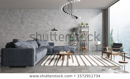Moderne interieur home detail woonkamer huis Stockfoto © travelphotography