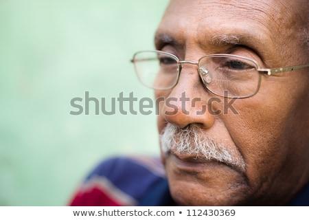 Сток-фото: лице · плохо · старые · очки · глазах