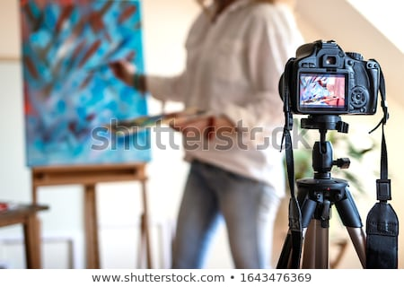 A painter and a working woman conferring Stock photo © photography33