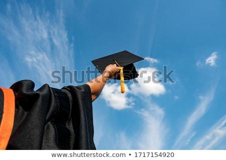 Graduation diplôme main isolé blanche femme Photo stock © Taigi