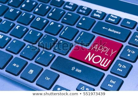 apply now button on modern computer keyboard stock photo © tashatuvango