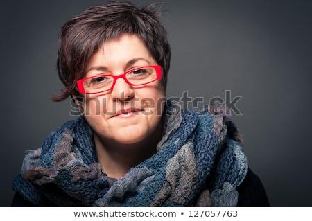 интимный портрет вверх тесные красивая женщина женщину Сток-фото © cboswell