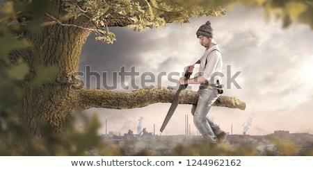 Vicces vektor rajz néz kamera tart Stock fotó © pcanzo