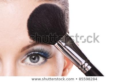 feminino · para · cima · olhos · mulher · pintar - foto stock © photography33