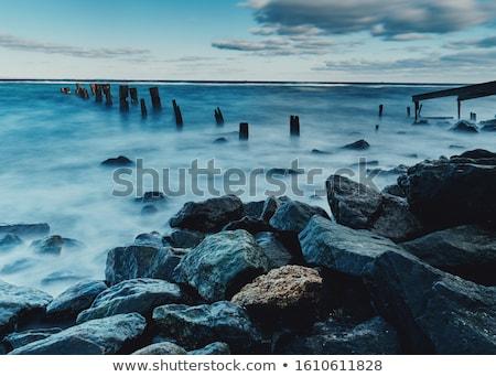 Stock photo: foggy coast