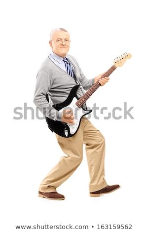 úriember gitár zenész munka Stock fotó © karelin721