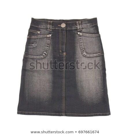Preto jeans saia isolado branco Foto stock © ruzanna