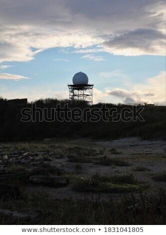 army radar against blue sky  Stock photo © jonnysek