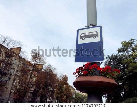 Flores parada de ônibus natureza assinar comunicação informação Foto stock © zzve