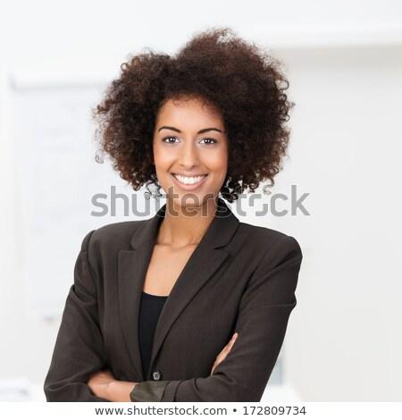 Bela mulher brasão dobrado belo loiro mulher Foto stock © fantasticrabbit