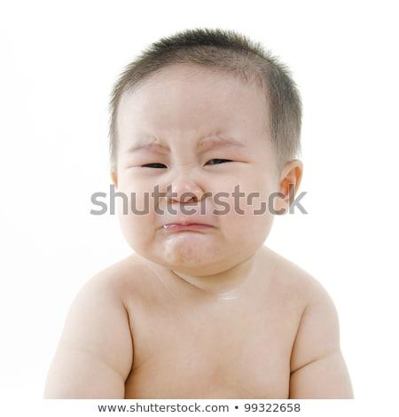 飢えた · アジア · 赤ちゃん · 少年 · 泣い · 座って - ストックフォト © szefei