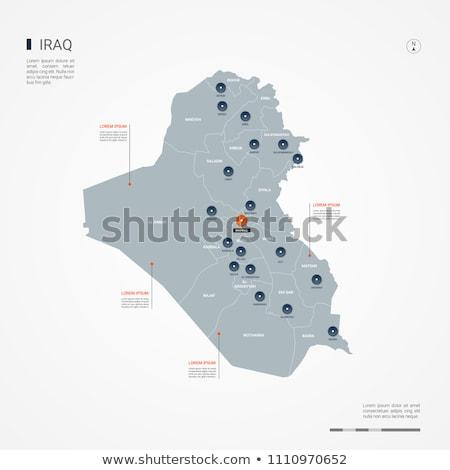 серый Ирак карта административный город азиатских Сток-фото © Volina
