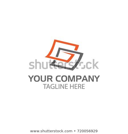 Négyszögletes tér absztrakt ikon üzlet terv Stock fotó © cidepix