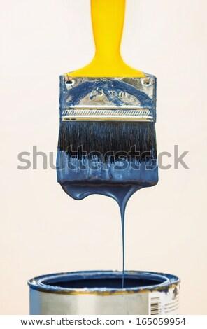 Paintbrush after dipping it into bucket. Stock photo © luckyraccoon