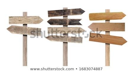 wooden direction sign stock photo © jayfish