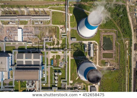 stream pollution aerial view stock photo © leonardi