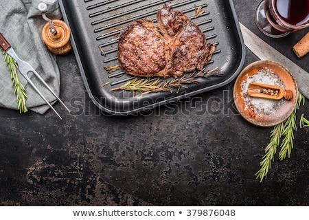 Roast beef in glass pan Stock photo © jarin13