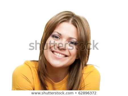 Mulher jovem cabeça ombros mulher feliz trabalhar Foto stock © monkey_business