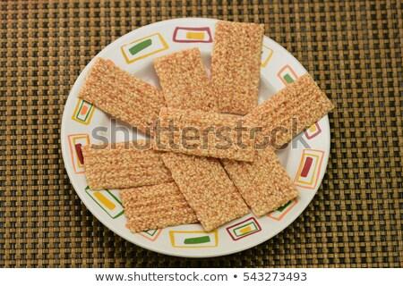 Tatlı kekler susam şeker gıda arka plan Stok fotoğraf © sfinks