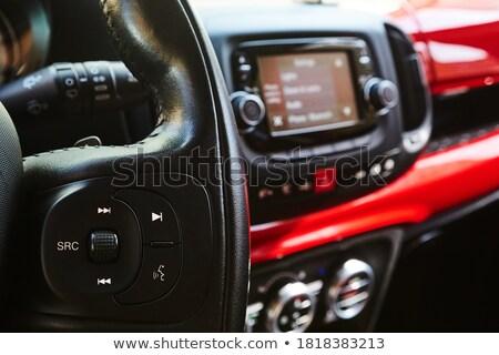 samochodu · stereo · kobiet · strony · popychanie · moc - zdjęcia stock © nejron