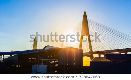 Gyűrű út híd Bangkok forgalom ipari Stock fotó © joyr
