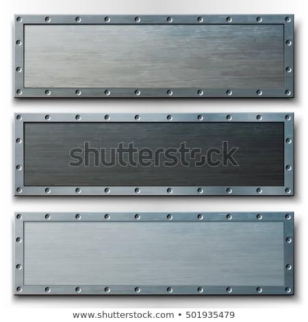 аннотация · вектора · металлический · пластина · Баннеры · дизайна - Сток-фото © mtmmarek