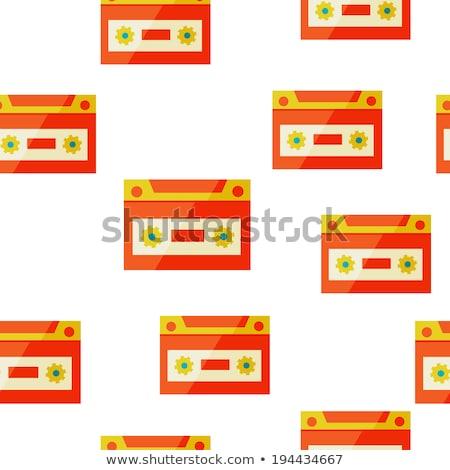 audiocassette seampless background Stock photo © sabelskaya