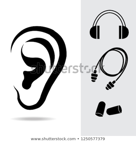 construction worker wearing protective ear plugs stock photo © highwaystarz