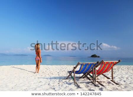 Sozinho praia mar báltico costa céu Foto stock © marekusz