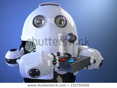 Robot joystick homme technologie vidéo Photo stock © Kirill_M