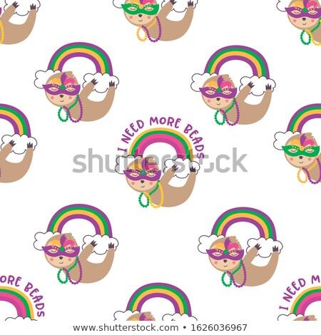 Mardi Gras seamless pattern Stock photo © gladiolus