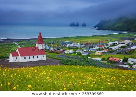peu · église · ville · Islande · nature · paysage - photo stock © 1Tomm