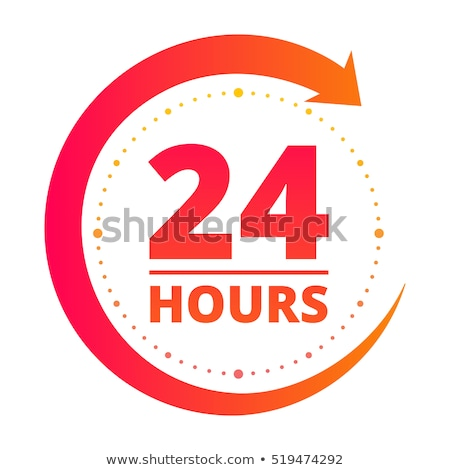 24 Hours Delivery Green Vector Icon Button Stock photo © rizwanali3d