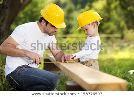 vader · onderwijs · zoon · bouw · kaukasisch · cute - stockfoto © phakimata