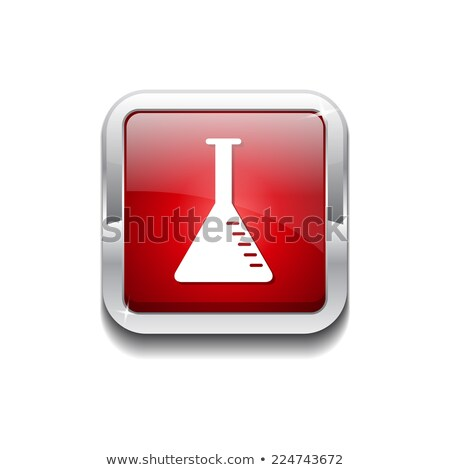 Conical Flask Red Vector Icon Button Stock photo © rizwanali3d