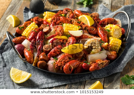 boiled crawfish closeup stock photo © oleksandro